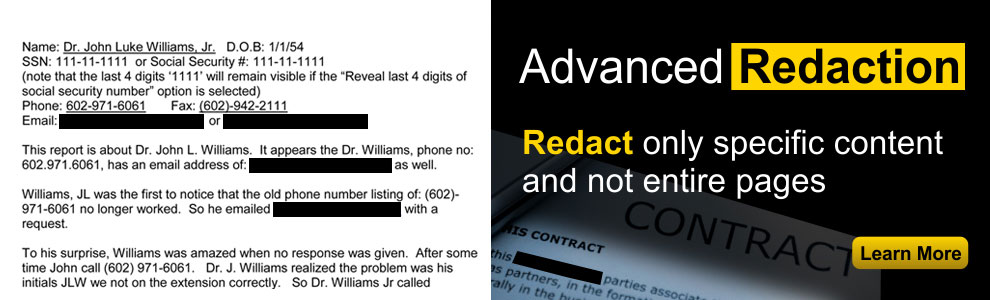 Advanced Redaction