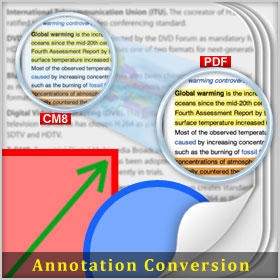 Convert CM8 Annotation into PDF Annotations